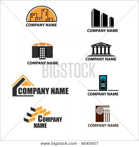 Set Of Building Company Logos
