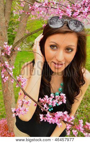 Pretty Springtime Girl