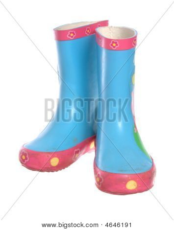 Blue Wellington Boots
