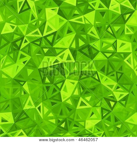 Green abstract triangles abstract vector background. This is file of EPS10 format. poster
