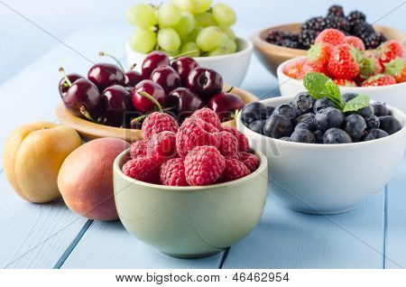 Fruit Harvest Selection In Bowls