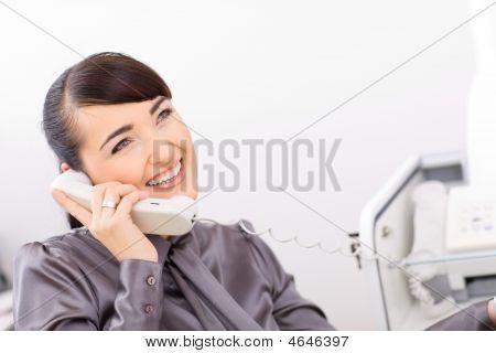 Bussinesswoman Talking On Phone