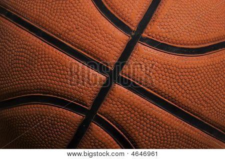 High detailed basket ball texture. Sport photo. poster