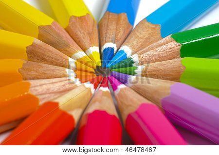 pencil in circle