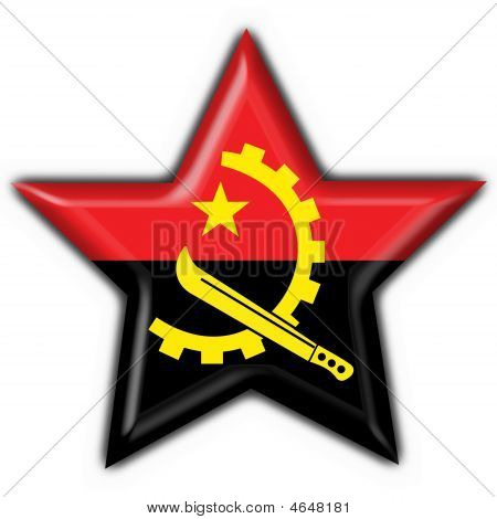 angola button flag star shape - 3d made poster