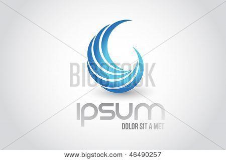 Abstract Wave Logo Symbol Illustration Design