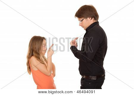 Conflict Between Father And Daughter