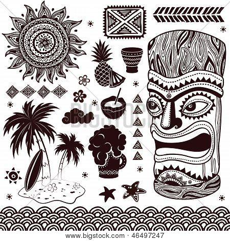 Ilustración de Tiki Aloha Vintage