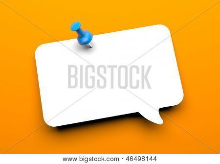 Speech cloud with pin