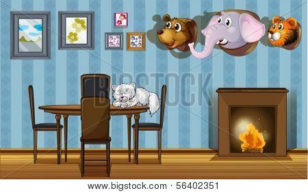 Darstellung der verschiedenen Wanddekorationen