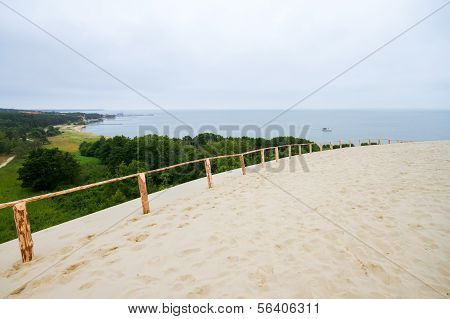 Nida Port On Curonian Spit In Lithuania