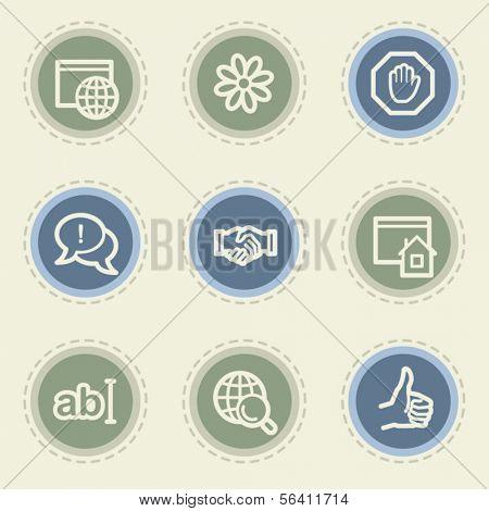 Internet  web icon set 1, vintage buttons