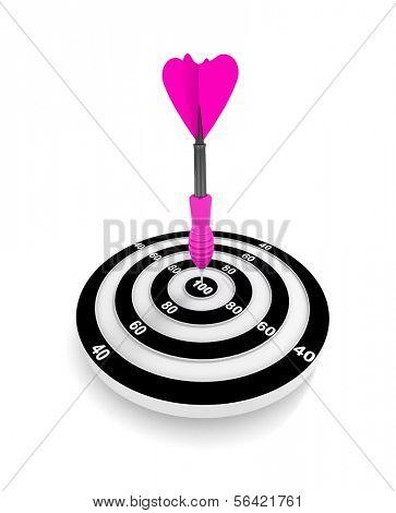 Target. Success concept. 3d illustration poster