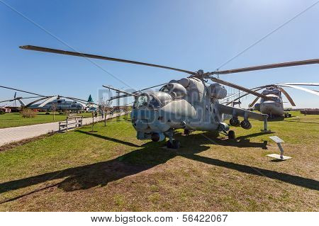 """Togliatti, Russia - May 2, 2013: The Mil Mi-24V (nato Reporting Name """"hind"""") Is A Large Helicopter G"""