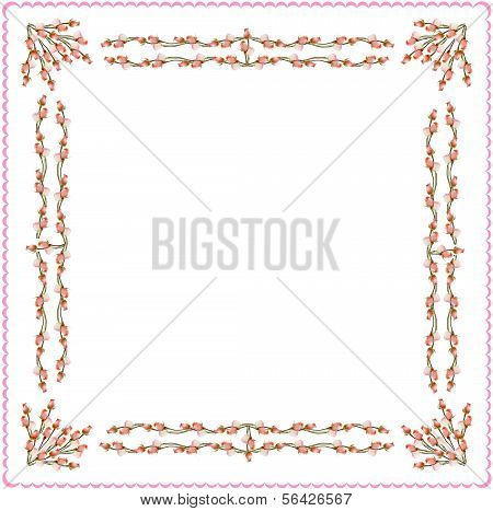 arrangement of pink roses as pattern for background