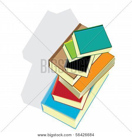 stack of books. vector illustration.