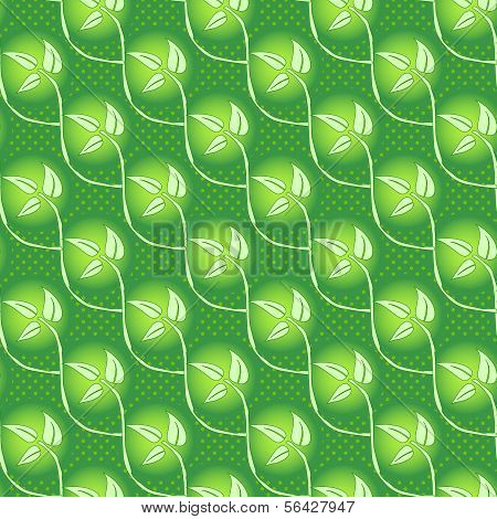 seamless abstract grass leaf background
