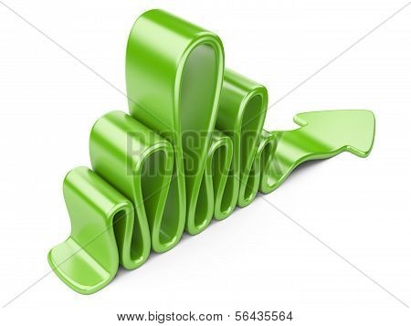 Green Wavy Arrow