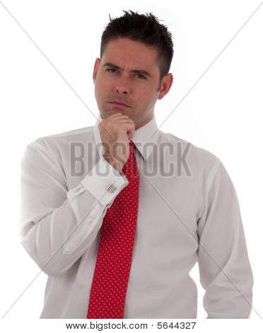 A Businessman Is Thinking Or Depressed