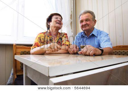 Happy Smiled Senior Couple