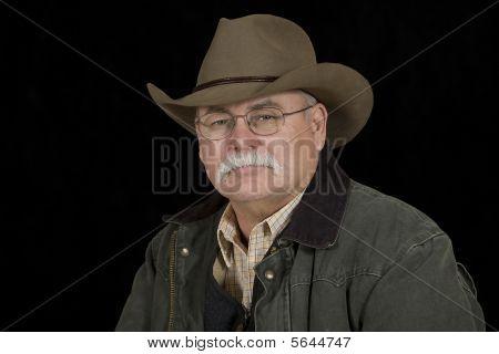 Stoic Looking Cowboy