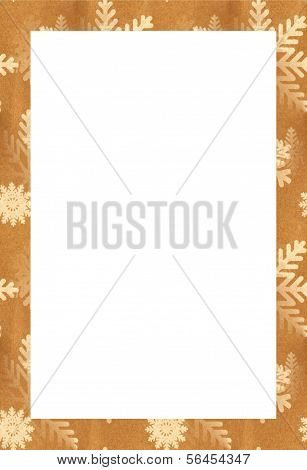 Snowflakes on Brown Paper Bag