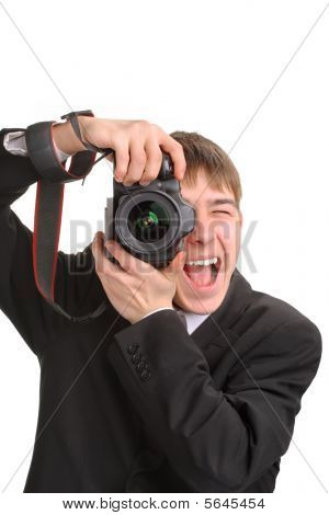 Excited photographer