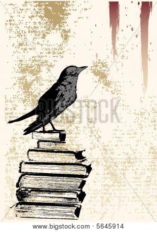 Raven Grunge Background