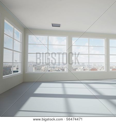 Empty Modern Office Room