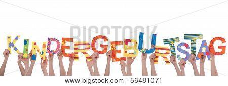 Hands Holding Kindergeburtstag