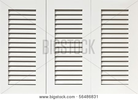 White wooden Shutters