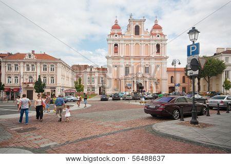 VILNIUS, LITHUANIA - AUGUST 10: St. Casimir in Vilnius. One of the many beautiful churches Vilnius