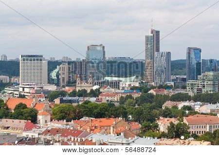 VILNIUS, LITHUANIA, AUGUST 10: Skyline financial centre of Vilnius, Lithuania
