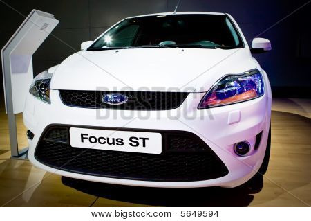 Moscow, Russia - 28 August, 2008: Ford Focus St At Moscow International Exhibition Motorshow 2008, M