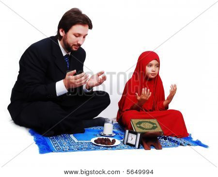 Muslim Fasting Activities In Ramadan Month