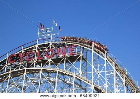 Historical landmark Cyclone roller coaster
