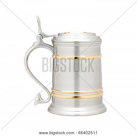 luxury pewter beer mug