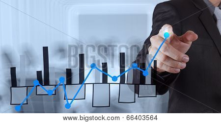 Businessman Hand Working With New Modern Computer And Business Strategy