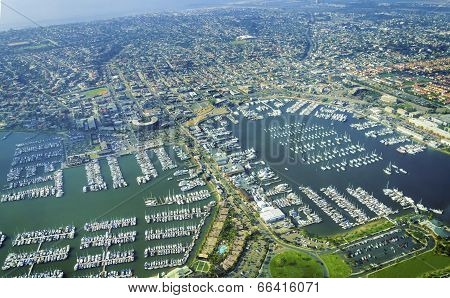 Aerial view of Point Loma San Diego