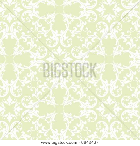 Green Damask Fabric