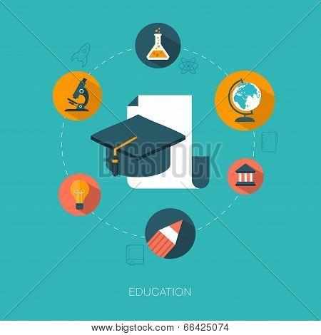 modern vector education concept illustration