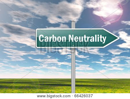 Signpost Carbon Neutrality