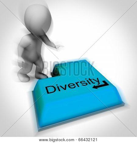 Diversity Keyboard Means Multi-cultural Range Or Variance