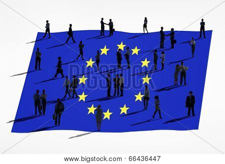 European union and a group of people.