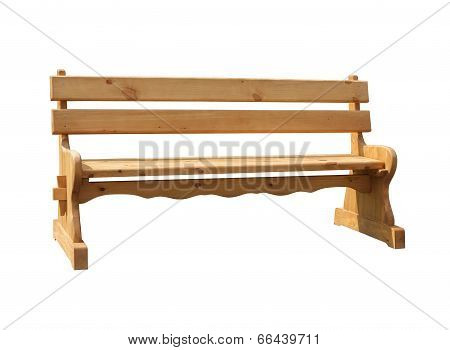 New wooden bench isolated