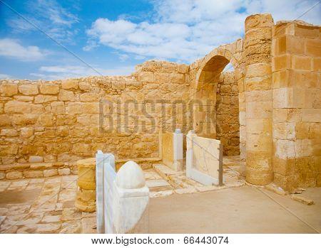 Remnants Of Altar Doors In Ancient Church