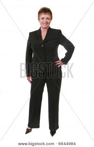 Geschäftsfrau, Isolated On White