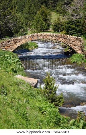 Old Stone Bridge. Vall De Ransol (Andorra)