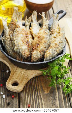 Fried Fish In A Frying Pan