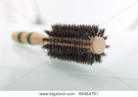 Round brush for styling hair.